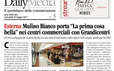 """Mulino Bianco porta """"La prima cosa bella"""" nei centri commerciali con Grandicentri"""